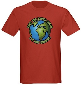 Keep Earth Cleain it's not uranus t-shirt