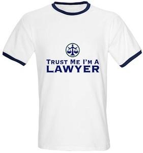 Trust Me i'm a lawyer tshirt
