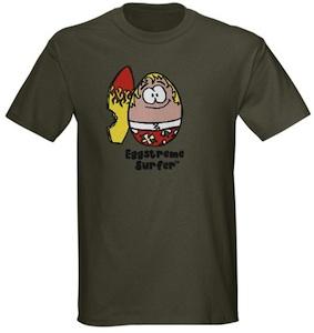 Eggstreme Surfer tshirt
