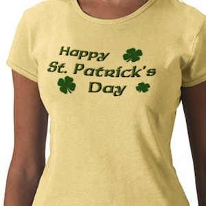 Happy St. Patrick's Day t-shirt in yellow or other colors