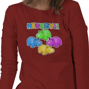 Hungry Hippo shirt in long and short sleeves