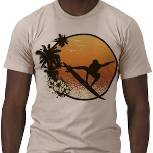 Enjoy the beach and waves with this Summer Surfing tshirt