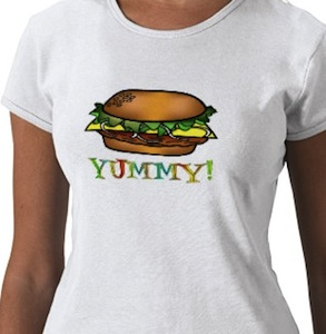 Yummy Hamburger shirt for all ages