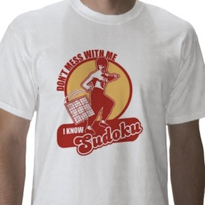 Don't mess with me i know Sudoku t-shirt