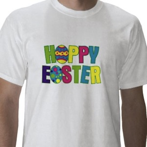 Happy Easter graphic colorful t-shirt