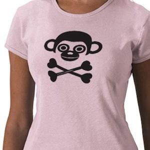 pink monkey skull t-shirt