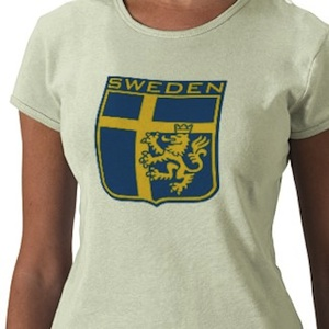 Sweden colors flag logo shirt