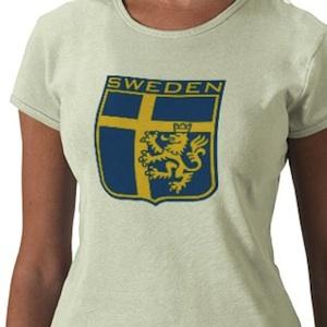 Sweden colors flag logo shirt