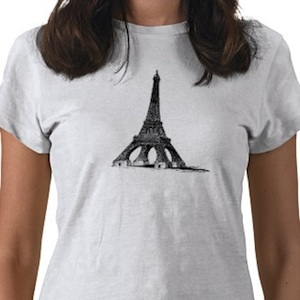 Eiffel tower t-shirt the big tower in Paris, France