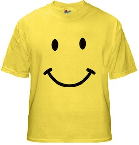 A nice yellow smiley face t-shirt