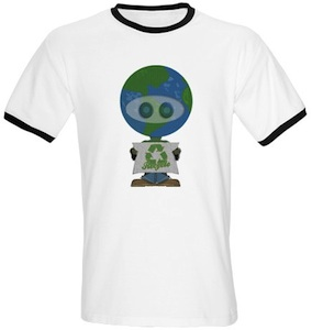 Earth Day 2011 is April 22e so support he recycle alien with this t-shirt