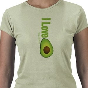 i love avocado t-shirt specially nice in on this green tshirt