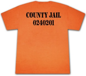 Go to jail with this funny County Jail t-shirt