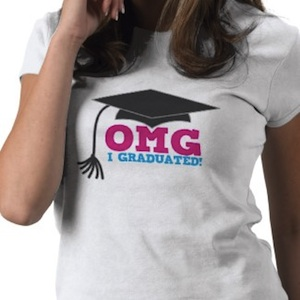OMG I Graduated sweet graduation tshirt