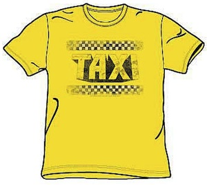 Great Yellow Taxi in distress logo t-shirt