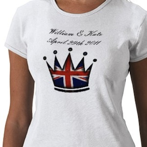 William & Kate wedding 29 april 2011 t-shirt