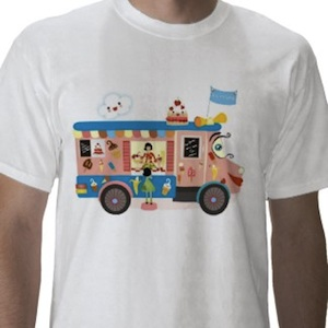 A sweet ice cream truck t-shirt
