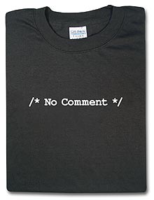 No comment t-shirt for the real geek