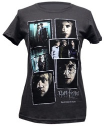 Harry potter and the deathly hallows photo collage t-shirt