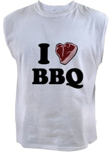 I love BBQ Sleeveless t-shirt