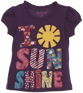 Kids t-shirt saying i Love sunshine