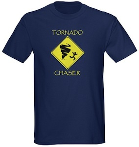 Weather freaks check out this tornado chaser t-shirt