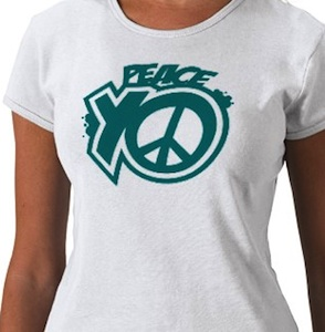 Peach T-Shirt to support world peace