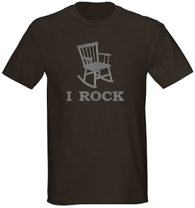 i Rock t-shirt with a rocking chair on it