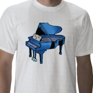 Blue grand piano t-shirt