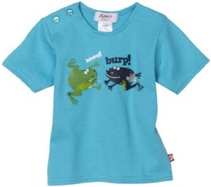 Two frogs on this toddler short sleeve t-shirt