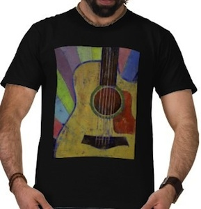 Sunrise guitar t-shirt