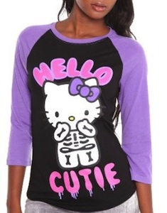 Skeleton Hello Cutie t-shirt