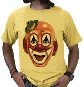 Clowns face t-shirt