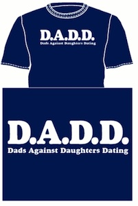 D.A.D.D. Dads agains daughters dating funny t-shirt