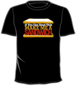 funny make me a sandwich t-shirt