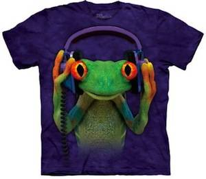 Frog Enjoying music t-shirt