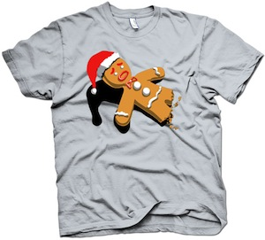 Funny eaten gingebread man t-shirt