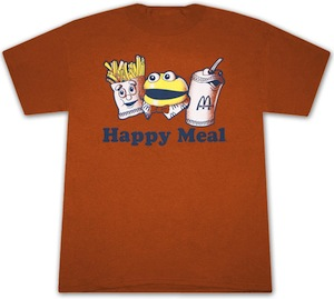 Vintage fun McDonalds Happy meal t-shirt