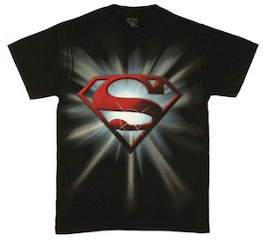 Superman light flares logo t-shirt
