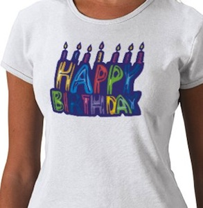 Happy Birthday T-Shirt with candles
