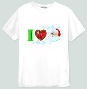 I heart Santa Clause t-shirt