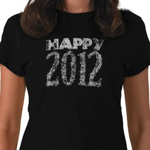Happy New Year 2012 t-shirt