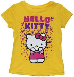 Hello Kitty Raining Hearts t-shirt