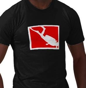 Diver diving t-shirt