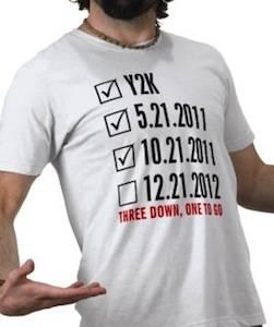 Apocalypse Checklist funny t-shirt