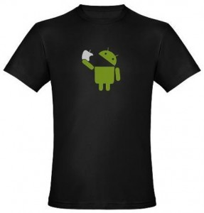Apple Vs Droid T-Shirt