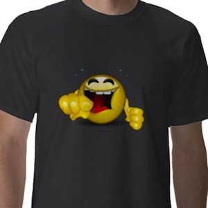 LOL pointing Smiley face t-shirt