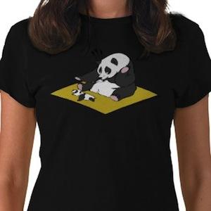 Sneezing baby panda t-shirt