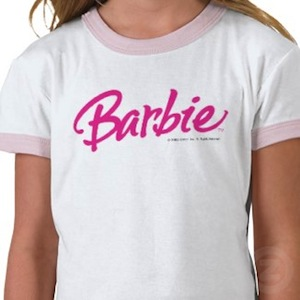 kids Barbie Logo t-shirt