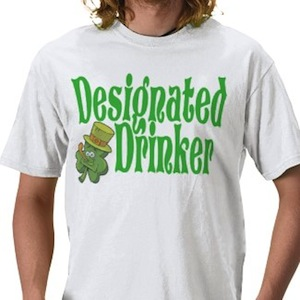 St. Patricks Day Designated Drinker t-shirt
